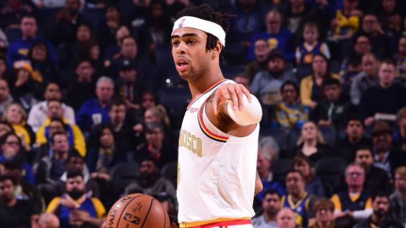 Russell drops 30 as Warriors get first back-to-back wins