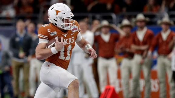 Ehlinger's four total TDs leads Texas past Utah