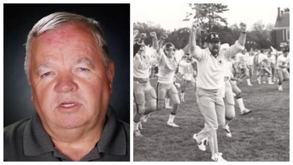 Football tops wedding for a Randolph-Macon College coach