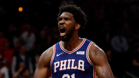Embiid is a threat in the paint