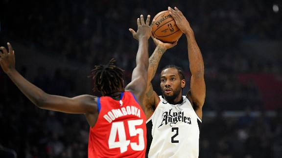 Kawhi drops 18 as Clippers down Pistons