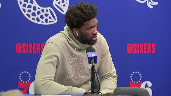 Embiid on injury: I was basically playing with one hand