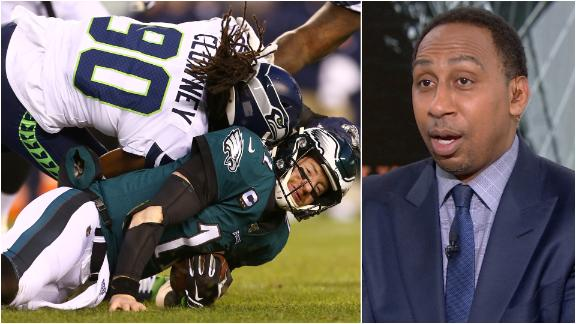 Stephen A.: Clowney should've been ejected for hit on Wentz