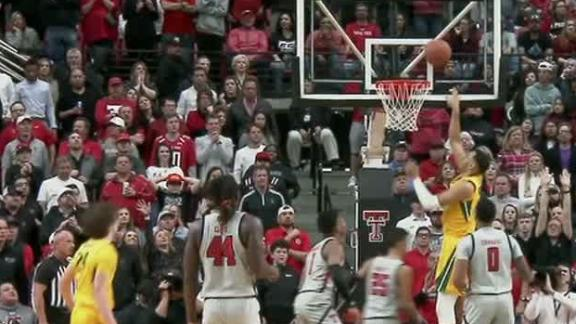 Texas Tech's block leads to a Baylor bucket