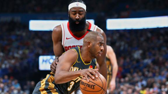 CP3 leads OKC to blowout win over Rockets
