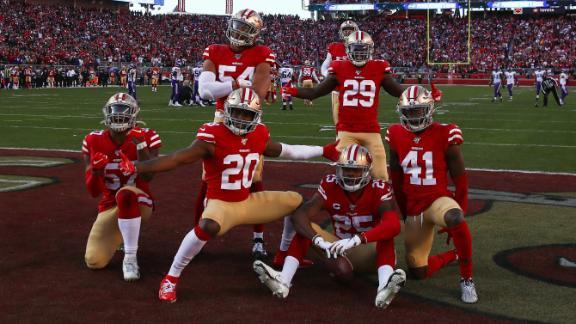 49ers use running game, defense to take down Vikings