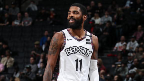 Kyrie misses one shot, scores 21 in return
