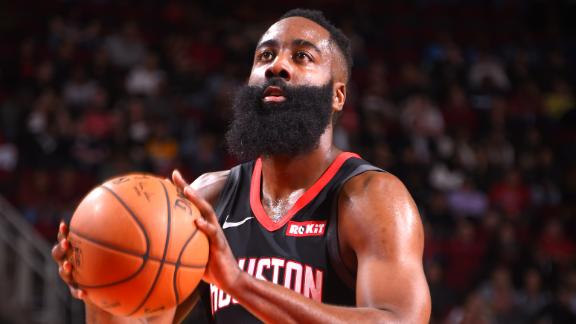 Harden drops 17 points in 1st quarter