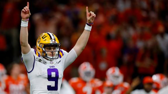 Burrow's six-TD performance leads LSU to national title