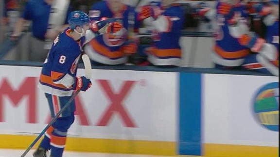 Dobson nets first NHL goal in Isanders' win