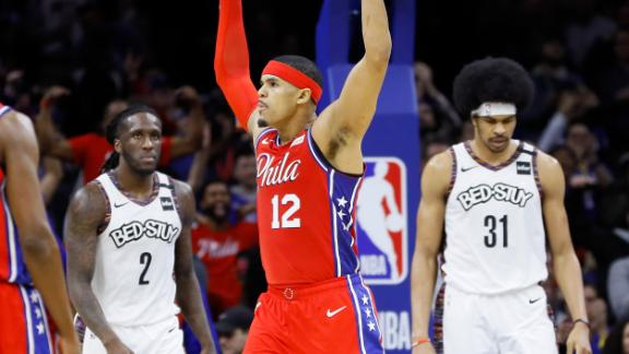 Harris heats up in second half, powers Sixers to crucial win