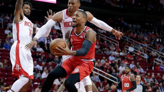 Flashback: Melo helps lead Blazers past Rockets in return to Houston