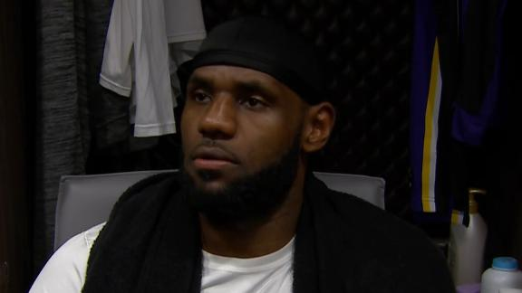 LeBron on what went wrong on his dunk that hit rim