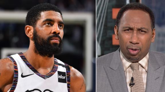 Stephen A. is flabbergasted by Kyrie's comments
