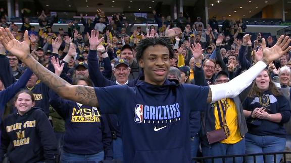 Morant reunites with Murray State fans pregame