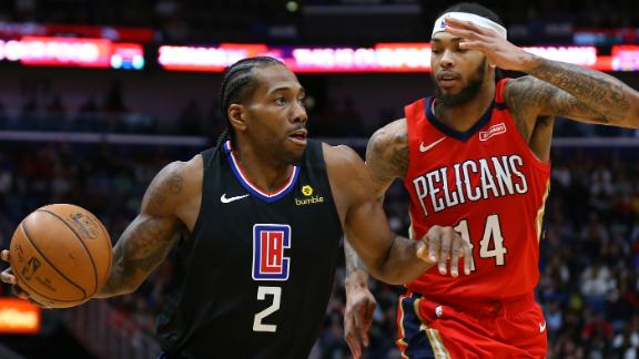 Kawhi scores 39 points to help Clippers edge Pelicans