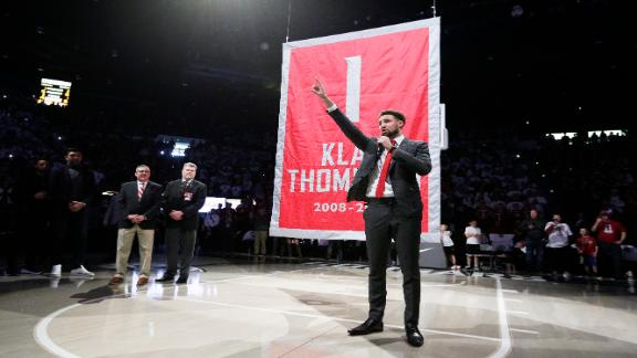 Klay Thompson gets jersey retired at Washington State