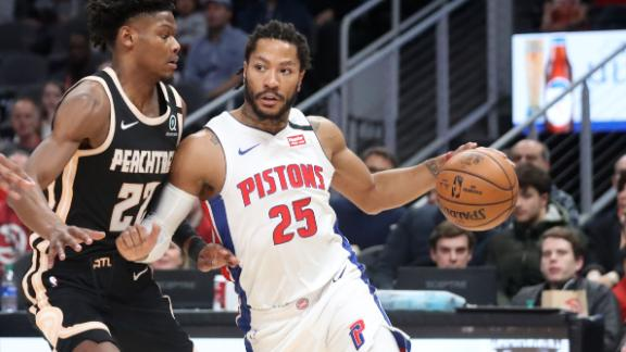 D-Rose cooks up 27 as Pistons rout Hawks