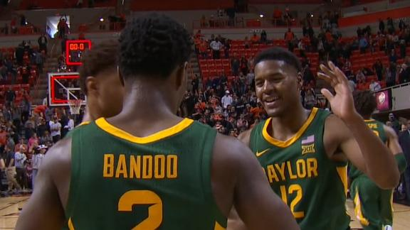 No. 2 Baylor surges late to avoid upset