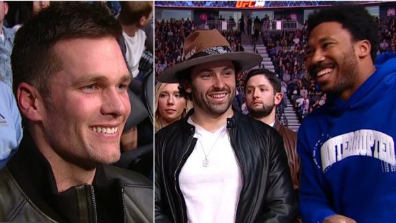 NFL stars take in UFC 246