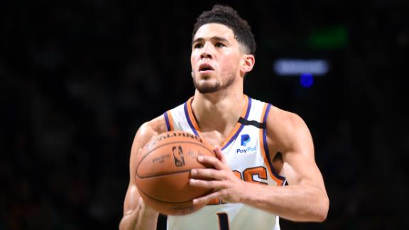 Booker drops 39 points as Suns top Celtics