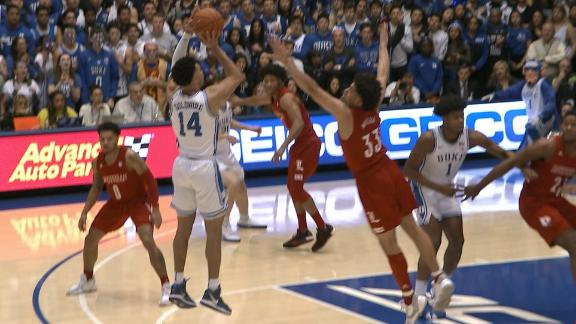 Goldwire drills the step-back jumper for Duke