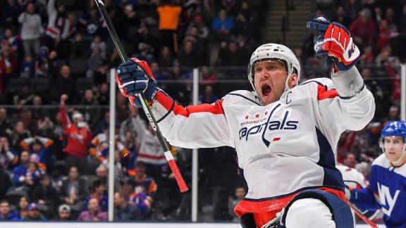 Ovechkin's hat trick fuels Capitals past Islanders