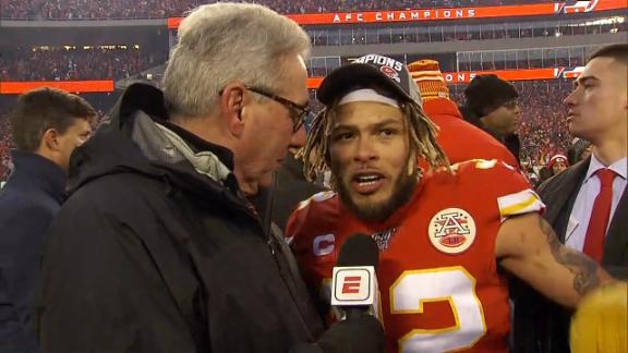 Mathieu dedicates AFC title victory to Coach Reid