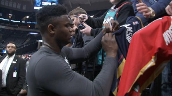 Zion makes his mark before Pelicans game