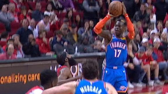 Schroder's dagger jumper seals OKC's 17-point comeback win