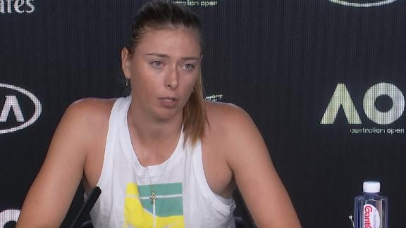 Sharapova unsure of future after first-round loss in Australian Open