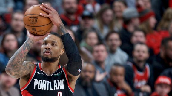 Lillard hits clutch 3, feeds Trent for go-ahead bucket in OT