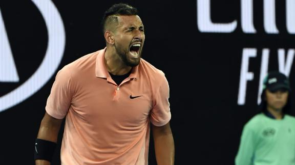 Kyrgios hyped after winning in straight sets