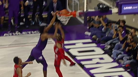 TCU's Samuel obliterates the rim and flexes