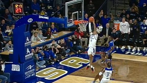 Jackson takes it coast-to-coast for Tulsa dunk