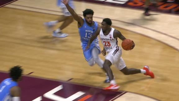 Virginia Tech takes down UNC on last-second shot in 2OT