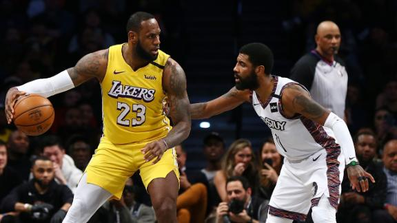 LeBron edges Kyrie with triple-double in first Lakers-Nets showdown