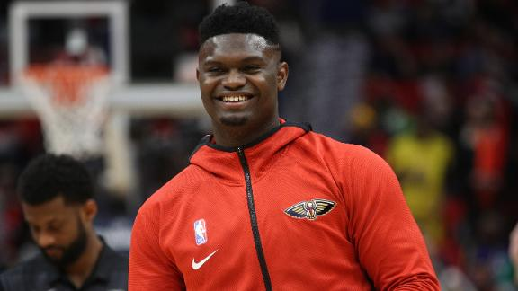 Sights and sounds from Zion's NBA debut