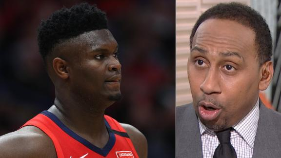 Stephen A. isn't sold on Zion's health
