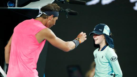 Nadal apologizes for hitting ball girl in the face
