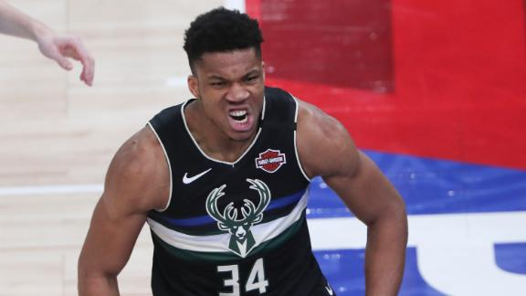 Giannis' 30 points powers Bucks to late win in Paris