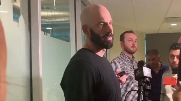 Fiers doesn't want to talk about the past