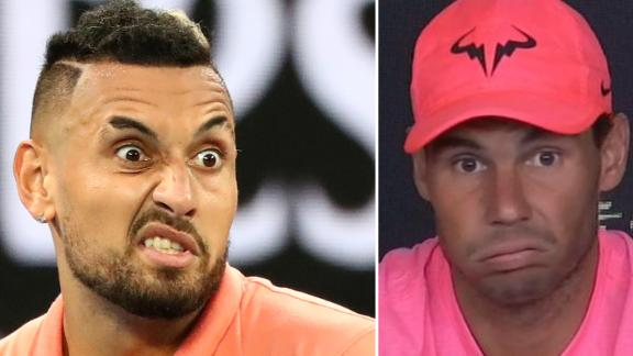 Nadal doesn't like Kyrgios' off-court behaviour