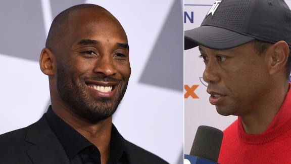 Tiger 'unbelievably sad' to hear about Kobe's death