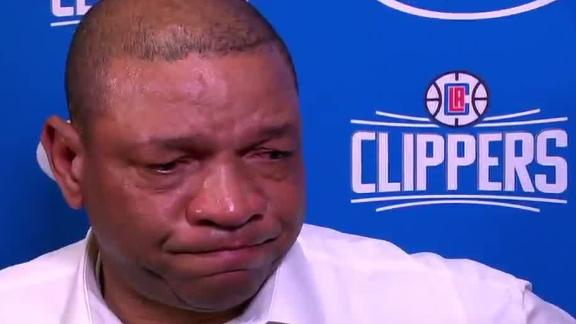 Doc Rivers in tears after hearing about Kobe