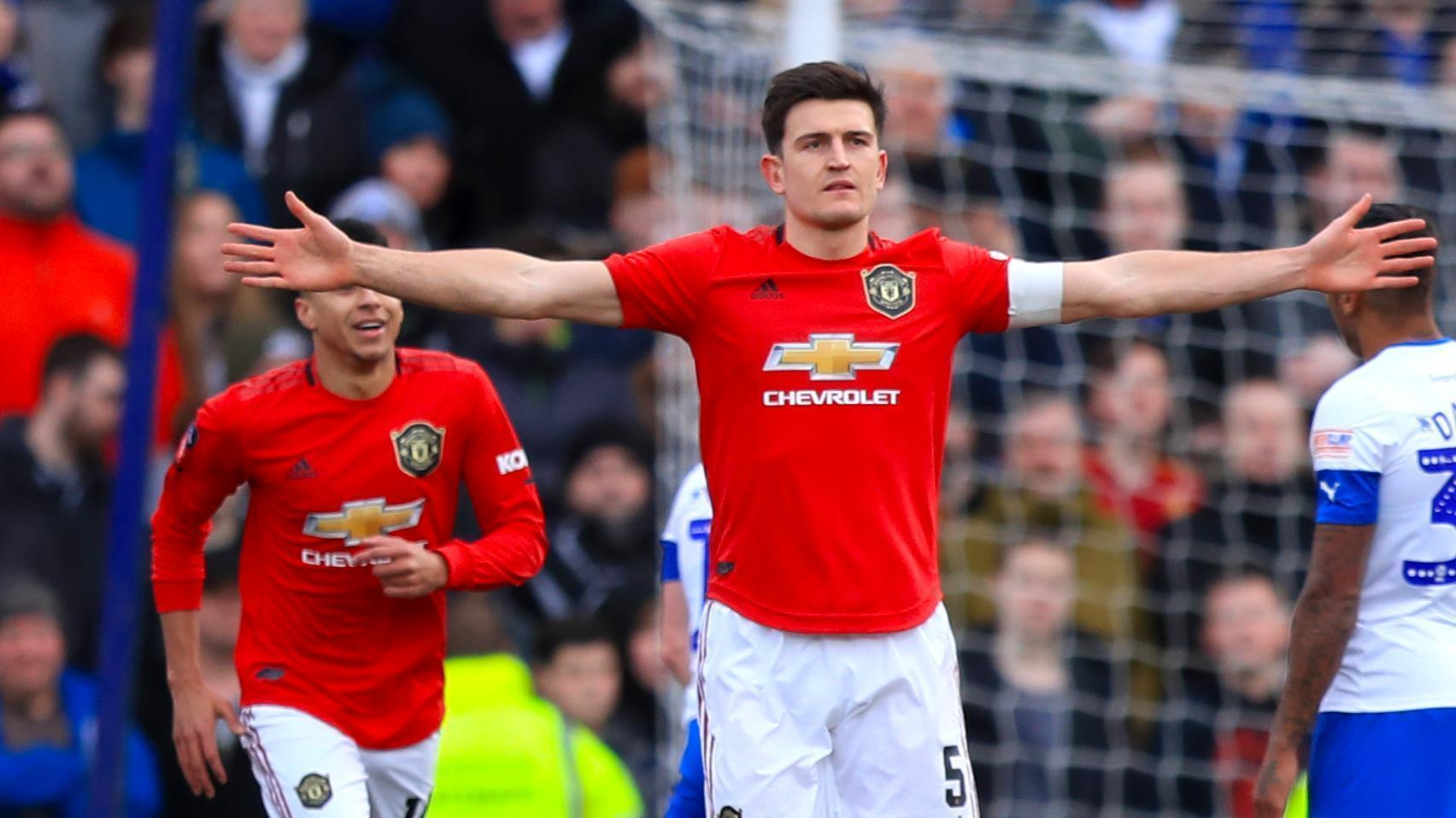 Harry Maguire's first Manchester United goal is a beauty
