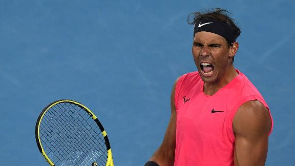 Nadal beats spirited Kyrgios to advance to quarterfinals