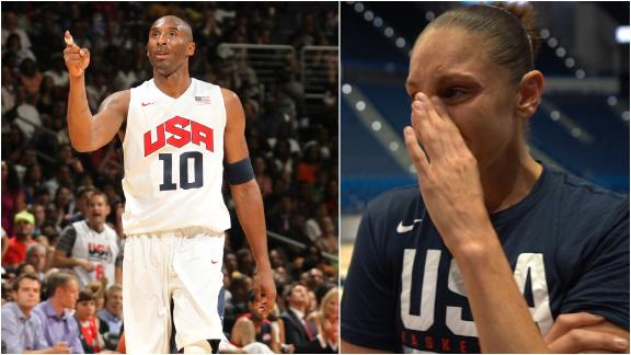 Taurasi tearful talking about Kobe