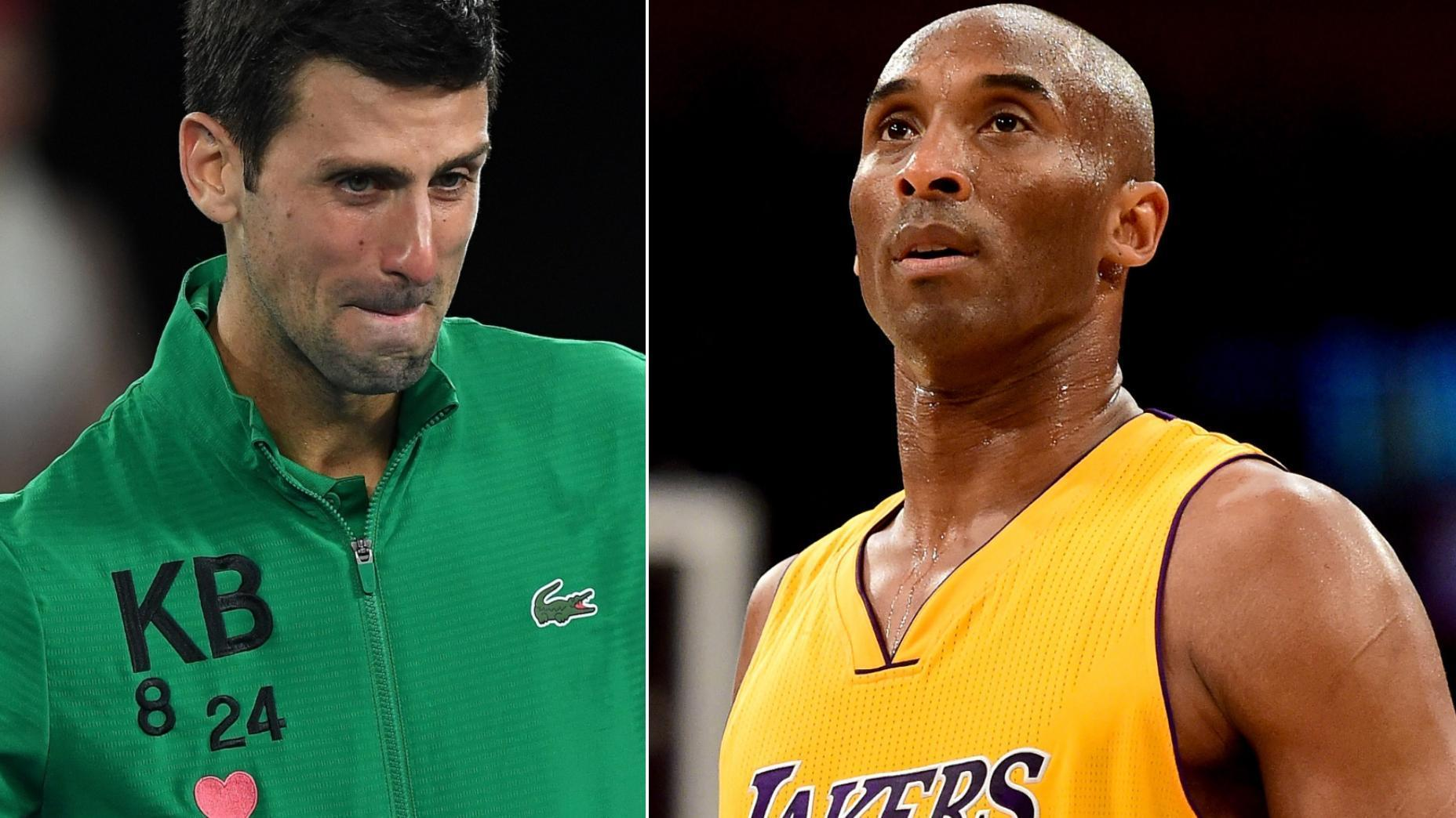 Tearful Djokovic pays tribute to Kobe