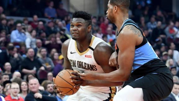 Zion goes for 14 points and 9 boards vs. Cavs